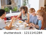 love my school. concentrated... | Shutterstock . vector #1211141284