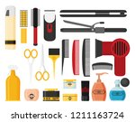 hairdresser beauty tools icon... | Shutterstock .eps vector #1211163724