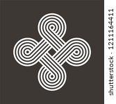 asian knot vector illustration. ...   Shutterstock .eps vector #1211164411