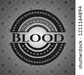 blood dark icon or emblem | Shutterstock .eps vector #1211164894