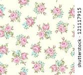 floral seamless vintage pattern.... | Shutterstock .eps vector #121117915