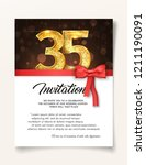 wedding invitation card... | Shutterstock .eps vector #1211190091
