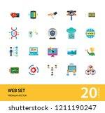 Web Icon Set. Internet Data...