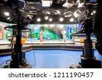 camera in studio are... | Shutterstock . vector #1211190457