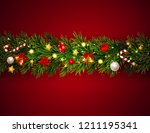 merry christmas and new year... | Shutterstock .eps vector #1211195341