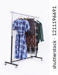 three stripy skirt and long... | Shutterstock . vector #1211196691
