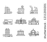 architecture icon set   Shutterstock .eps vector #1211203201