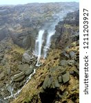 Small photo of view of waterfall, Kinder downfall