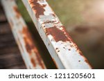 rust and corrosion in the weld... | Shutterstock . vector #1211205601