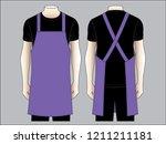 men's purple apron vector for... | Shutterstock .eps vector #1211211181