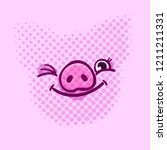 pig is a symbol of 2019 new... | Shutterstock .eps vector #1211211331