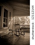 sepia toned old time country... | Shutterstock . vector #12112144