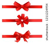 set of gift red bows  vector... | Shutterstock .eps vector #1211224954