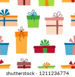olorful gift boxes with... | Shutterstock .eps vector #1211236774