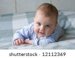 little baby boy leaning on his... | Shutterstock . vector #12112369