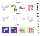 isolated object of scarf and... | Shutterstock .eps vector #1211237527