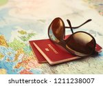 travel map  plan your vacation... | Shutterstock . vector #1211238007