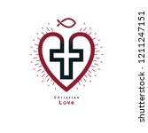 true christian love and belief... | Shutterstock .eps vector #1211247151