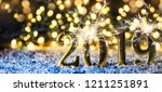 happy new year 2019  christmas... | Shutterstock . vector #1211251891