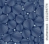 sea seamless pattern with blue... | Shutterstock .eps vector #1211254774