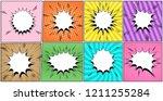comic blank speech bubbles... | Shutterstock .eps vector #1211255284