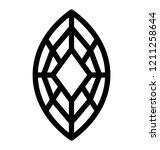 diamond vector line icon | Shutterstock .eps vector #1211258644