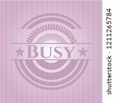 busy realistic pink emblem | Shutterstock .eps vector #1211265784