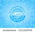 atlantic sky blue emblem with... | Shutterstock .eps vector #1211265934