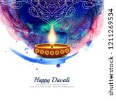 abstract happy diwali religious ...   Shutterstock .eps vector #1211269534