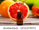 bottle of essential oil from... | Shutterstock . vector #1211274571