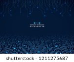 futuristic techonology of blue... | Shutterstock .eps vector #1211275687