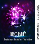 background disco party | Shutterstock .eps vector #121128007