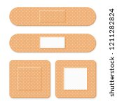 medical patch  adhesive bandage.... | Shutterstock .eps vector #1211282824