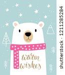 christmas card for invitations  ... | Shutterstock .eps vector #1211285284