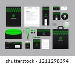 corporate identity set template ... | Shutterstock .eps vector #1211298394