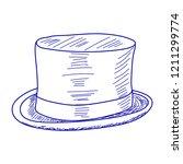 blue sketch of male cylinder | Shutterstock .eps vector #1211299774