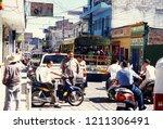 the city centre of guatemala... | Shutterstock . vector #1211306491