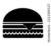 burger  vector illustration.... | Shutterstock .eps vector #1211309137