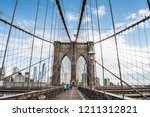 brooklyn bridge walk | Shutterstock . vector #1211312821