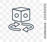 360 degrees vector outline icon ... | Shutterstock .eps vector #1211313151