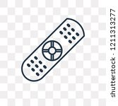 remote control vector outline... | Shutterstock .eps vector #1211313277