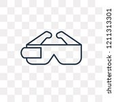ar glasses vector outline icon... | Shutterstock .eps vector #1211313301
