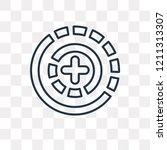 360 degrees vector outline icon ... | Shutterstock .eps vector #1211313307