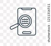 detection vector outline icon...   Shutterstock .eps vector #1211316511