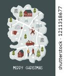 merry christmas illustration... | Shutterstock .eps vector #1211318677