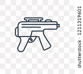rifle vector outline icon... | Shutterstock .eps vector #1211319601