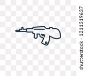 rifle vector outline icon... | Shutterstock .eps vector #1211319637