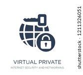 virtual private network icon.... | Shutterstock .eps vector #1211326051