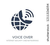 voice over internet protocol... | Shutterstock .eps vector #1211326054