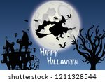 witch background halloween | Shutterstock .eps vector #1211328544